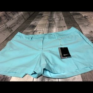 Nike womans shorts size 14 new with tags aqua